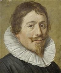 porträt eines mannes mit kragen by frans hals the elder