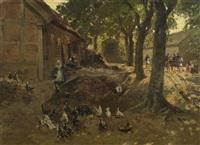 hühnerhof bei klein machnow by johann jacob
