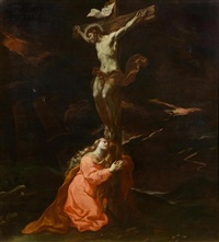 the holy magdalene at the feet of christ on the cross by anonymous-italian-genoa (17)