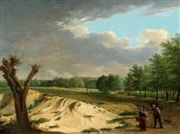 landschaft mit bäuerin und kind by johann friedrich morgenstern
