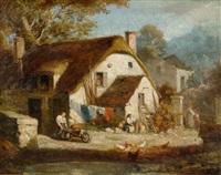 bauernhof by aime-gabriel-adolphe bourgoin