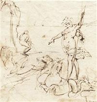 neptun mit seinem gespann von seepferden by francesco (da gubbio) allegrini