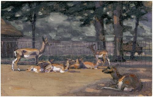 antilopen im gehege by wilhelm friedrich kuhnert