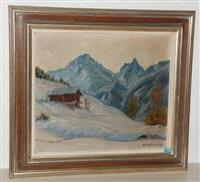 winter im lötschental mit dem bietschhorn by albert nyfeler