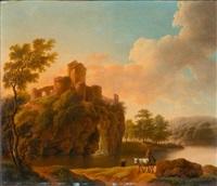 flusslandschaften, sonnenaufgang und sonnenuntergang (diptych) by dorothea maria wagner