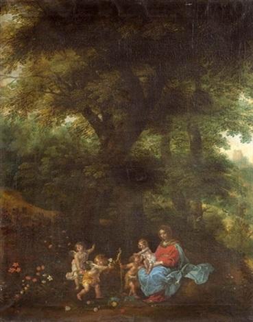 madonna und kind mit dem johannesknaben und engeln collab wpieter van avont by denis van alsloot
