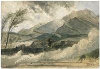 steinlawine bei bad ragaz in graubünden by pierre (henri théodore) tetar van elven
