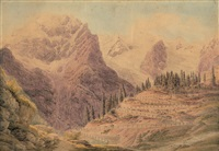 der ortler mit seinen gletschern by johann jakob meyer
