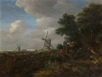 bewaldete landschaft by gerrit van hees