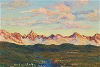 sonnenuntergang in den bergen by rodolfo olgiati