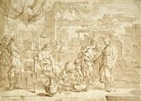 antike szene mit einer römerin bei der toilette by jacopo alessandro calvi