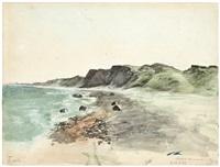 die steilküste stoltera bei rostock-warnemünde by franz meyerheim