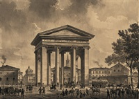 porta ticinese in mailand by johann philipp veith