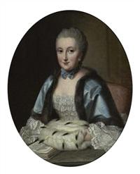 portrait der maria anna freifrau von hütten zu stolzenberg by johann georg ziesenis