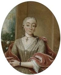 portrait einer adeligen dame by tiebout regters