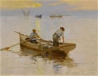 fischer auf dem genfersee by jules gachet