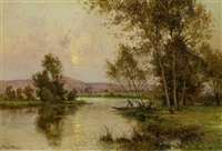 flusslandschaft in der normandie by albert gabriel rigolot