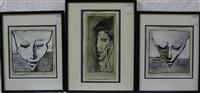 portraits xi (+ 2 others; 3 works) by antonin malek