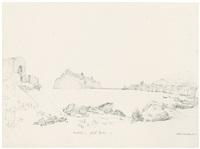 ansicht von ischia mit dem castello aragonese by friedrich eugen peipers