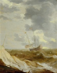 marine vor der küste by bonaventura peeters the elder
