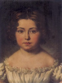 bildnis von césarine fleming, enfant basse de graffenried-villar by salomon guillaume counis