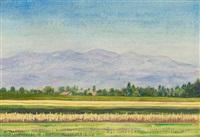 sommerliche landschaft by albert trachsel