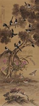 鹊集图 by xue ruzhou