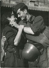 revolutionary troops saying goodbye by robert capa