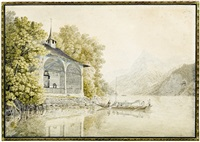 die tellskapelle am vierwaldstättersee by mathias gabriel lory