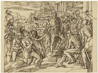 judas, der makkabäer, besiegt die feinde und reinigt den tempel by julius schnorr von carolsfeld