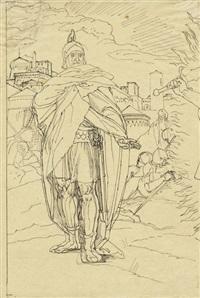 josua vor den mauern jerichos by julius schnorr von carolsfeld