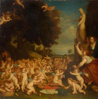 the festival of venus by titian (tiziano vecelli)