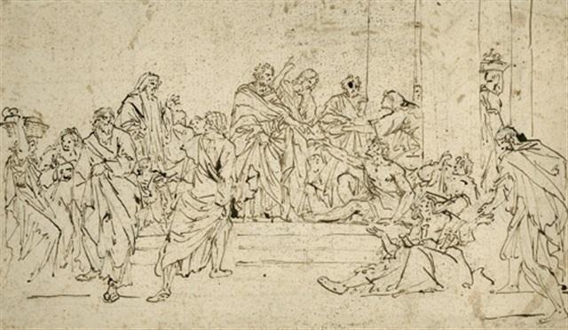 petrus und johannes ev heilen einen lahmen by santo piatti