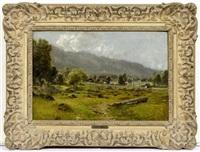 landschaft in den bergen by ludwig correggio