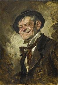 portrait eines lachenden mannes by hans best