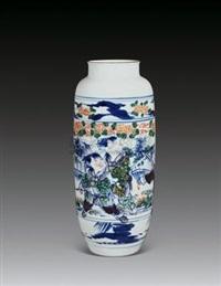 斗彩吉祥童子瓶 (porcelain vase) by rao xiaoqing