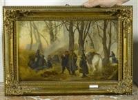 soldaten bei der rast by otto edmund gunther