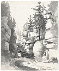 der uttewalder grund in der sächsischen schweiz by heinrich eduard muller
