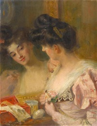 dame bei der toilette by charles billon