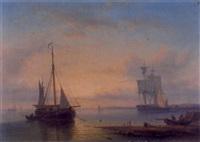 holländische küstenlandschaft mit fischern by anthon adrianus sem