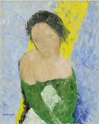 portrait jeune fille by jean crotti