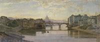 blick über den tiber mit der ponte sisto auf st. peter by julius zielke