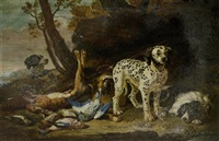 jagdhunde mit beute by david de coninck