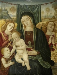 maria mit dem christusknaben und johannes dem täufer begleitet von zwei engeln by anonymous-italian (15)