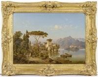 landschaft mit ansicht auf den como see by henry jackel