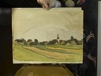 landschaft mit dorf by maurice le scouézec