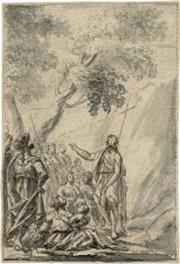 die predigt johannes d. t. by johann jacob von sandrart