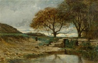 broad landscape with figure by adolphe appian