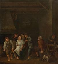 fröhliche gesellschaft in einem wirtshaus by jan steen