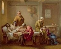 beweinung eines toten by jean louis david